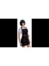 Фартук Kodi professional черный с фиолетовым логотипом (короткий), Kodi