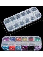 Пластиковый контейнер для страз на 12 ячеек, Kodi