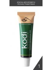 Краска для бровей и ресниц графитовая (15 ml) АВСТРИЯ, Kodi